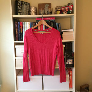 Old Navy Cable V-Neck Sweater